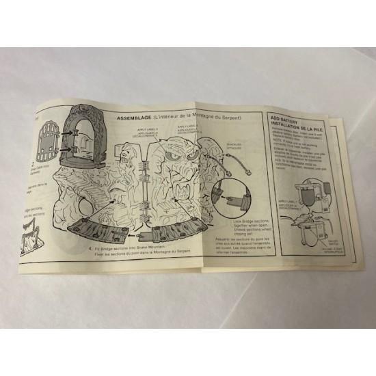 Snake Mountain original manual 1983